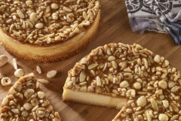 Cheesecake met noten en caramel